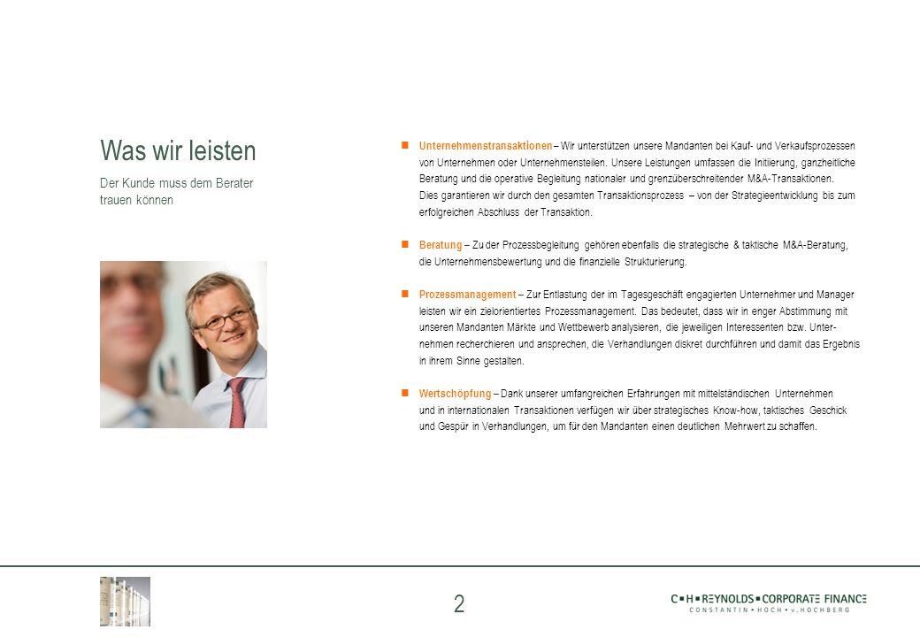 2 Unternehmenstransaktionen – Wir unterstützen unsere Mandanten bei Kauf- und Verkaufsprozessen von Unternehmen oder Unternehmensteilen. Unsere Leistu