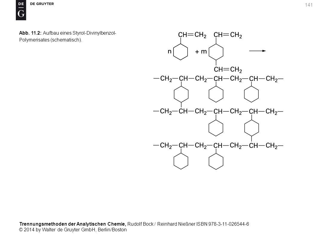 Trennungsmethoden der Analytischen Chemie, Rudolf Bock / Reinhard Nießner ISBN 978-3-11-026544-6 © 2014 by Walter de Gruyter GmbH, Berlin/Boston 141 Abb.