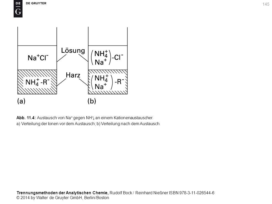 Trennungsmethoden der Analytischen Chemie, Rudolf Bock / Reinhard Nießner ISBN 978-3-11-026544-6 © 2014 by Walter de Gruyter GmbH, Berlin/Boston 145 Abb.