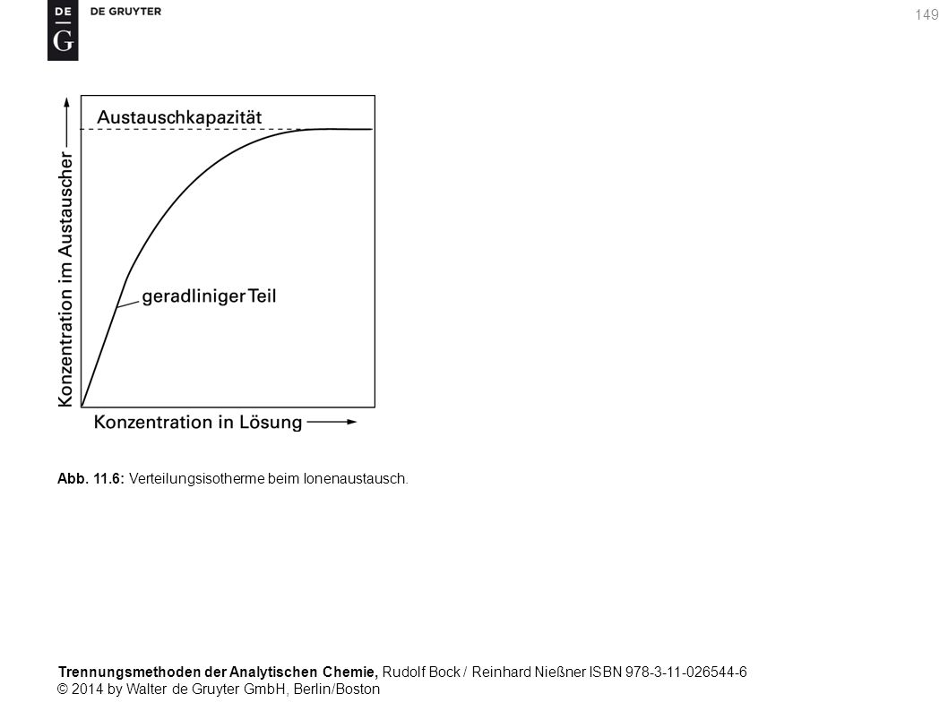 Trennungsmethoden der Analytischen Chemie, Rudolf Bock / Reinhard Nießner ISBN 978-3-11-026544-6 © 2014 by Walter de Gruyter GmbH, Berlin/Boston 149 Abb.