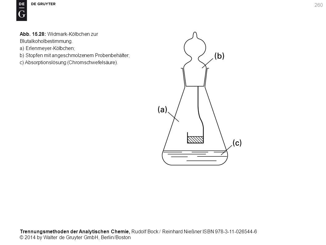 Trennungsmethoden der Analytischen Chemie, Rudolf Bock / Reinhard Nießner ISBN 978-3-11-026544-6 © 2014 by Walter de Gruyter GmbH, Berlin/Boston 260 Abb.