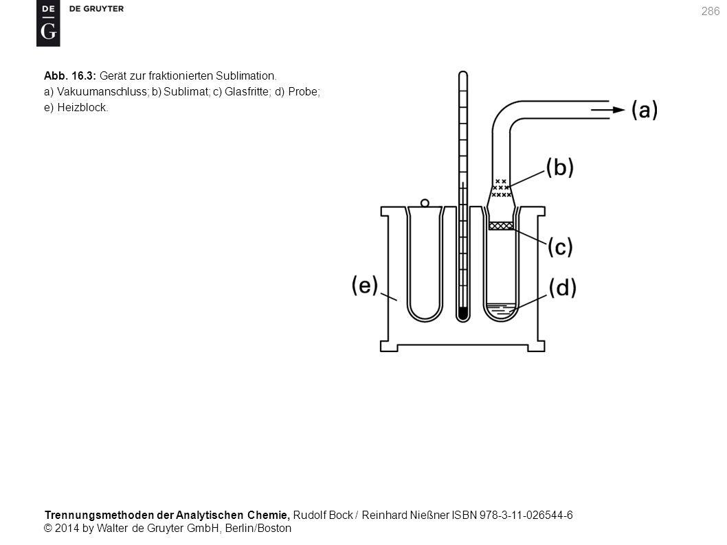 Trennungsmethoden der Analytischen Chemie, Rudolf Bock / Reinhard Nießner ISBN 978-3-11-026544-6 © 2014 by Walter de Gruyter GmbH, Berlin/Boston 286 Abb.