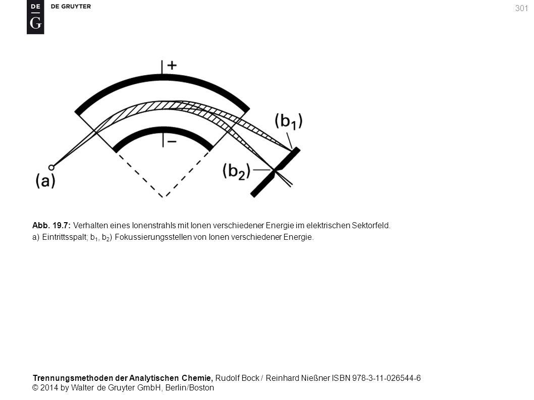 Trennungsmethoden der Analytischen Chemie, Rudolf Bock / Reinhard Nießner ISBN 978-3-11-026544-6 © 2014 by Walter de Gruyter GmbH, Berlin/Boston 301 Abb.