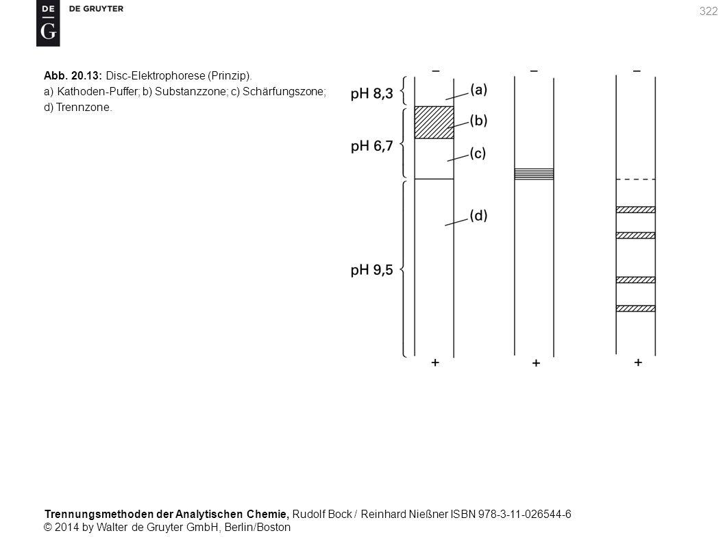 Trennungsmethoden der Analytischen Chemie, Rudolf Bock / Reinhard Nießner ISBN 978-3-11-026544-6 © 2014 by Walter de Gruyter GmbH, Berlin/Boston 322 Abb.