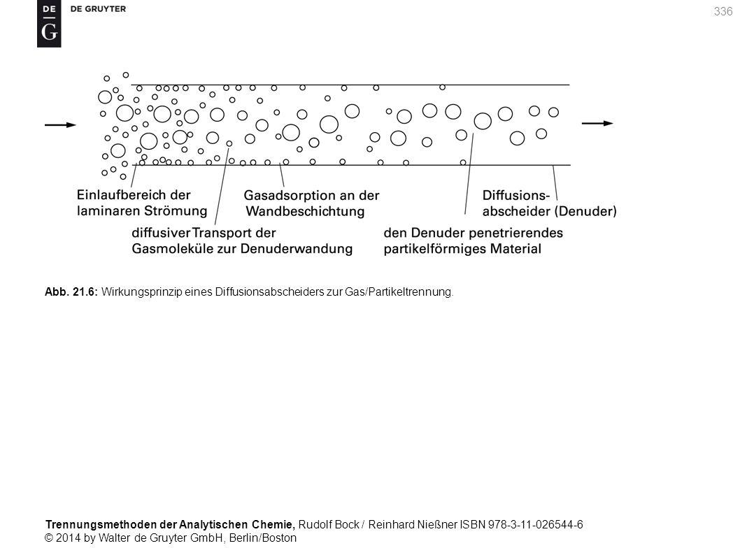 Trennungsmethoden der Analytischen Chemie, Rudolf Bock / Reinhard Nießner ISBN 978-3-11-026544-6 © 2014 by Walter de Gruyter GmbH, Berlin/Boston 336 Abb.