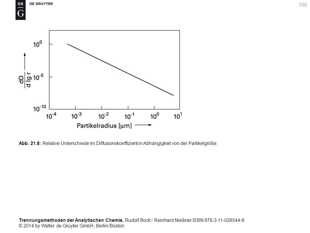 Trennungsmethoden der Analytischen Chemie, Rudolf Bock / Reinhard Nießner ISBN 978-3-11-026544-6 © 2014 by Walter de Gruyter GmbH, Berlin/Boston 338 Abb.