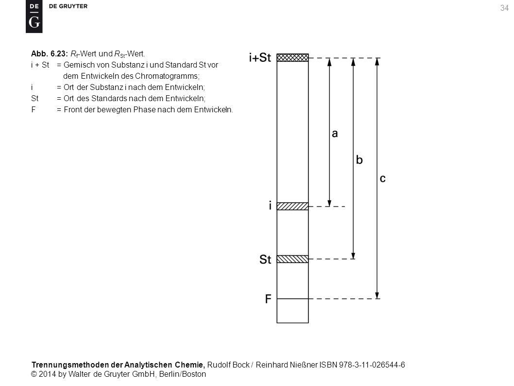 Trennungsmethoden der Analytischen Chemie, Rudolf Bock / Reinhard Nießner ISBN 978-3-11-026544-6 © 2014 by Walter de Gruyter GmbH, Berlin/Boston 34 Abb.