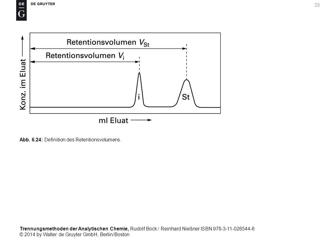 Trennungsmethoden der Analytischen Chemie, Rudolf Bock / Reinhard Nießner ISBN 978-3-11-026544-6 © 2014 by Walter de Gruyter GmbH, Berlin/Boston 35 Abb.