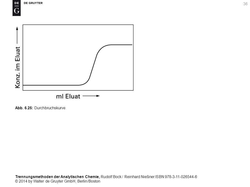 Trennungsmethoden der Analytischen Chemie, Rudolf Bock / Reinhard Nießner ISBN 978-3-11-026544-6 © 2014 by Walter de Gruyter GmbH, Berlin/Boston 36 Abb.