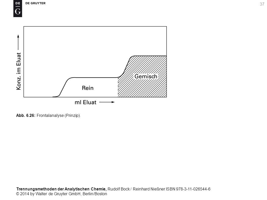 Trennungsmethoden der Analytischen Chemie, Rudolf Bock / Reinhard Nießner ISBN 978-3-11-026544-6 © 2014 by Walter de Gruyter GmbH, Berlin/Boston 37 Abb.