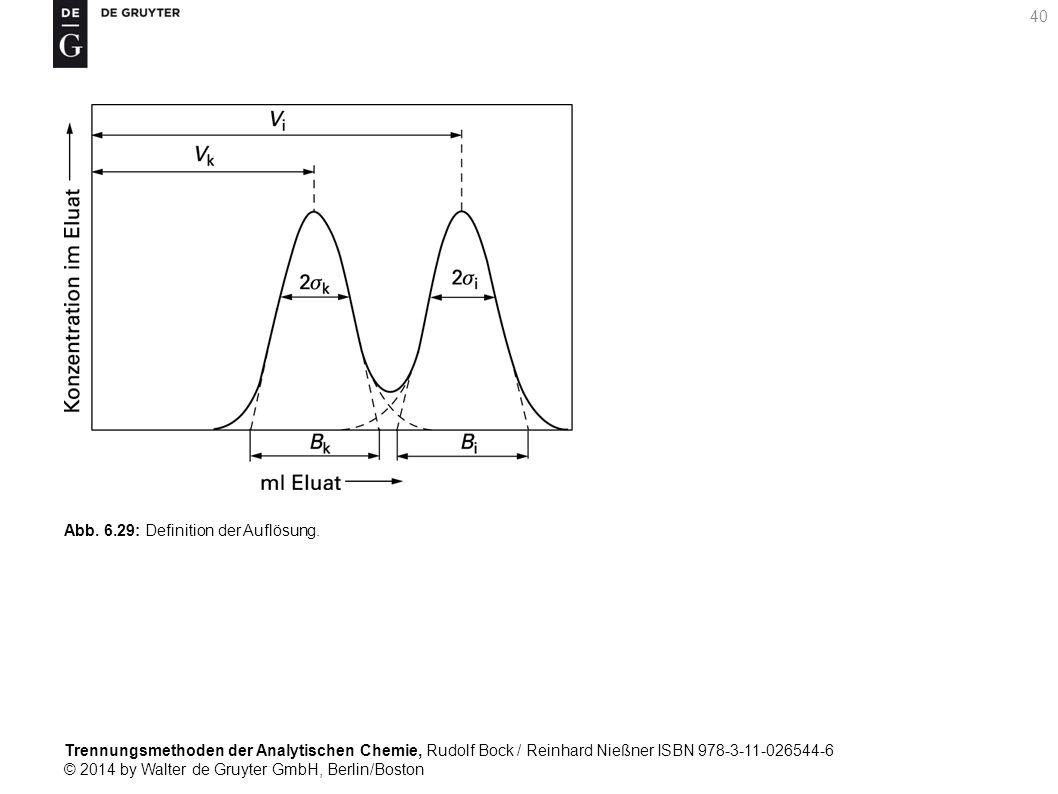Trennungsmethoden der Analytischen Chemie, Rudolf Bock / Reinhard Nießner ISBN 978-3-11-026544-6 © 2014 by Walter de Gruyter GmbH, Berlin/Boston 40 Abb.