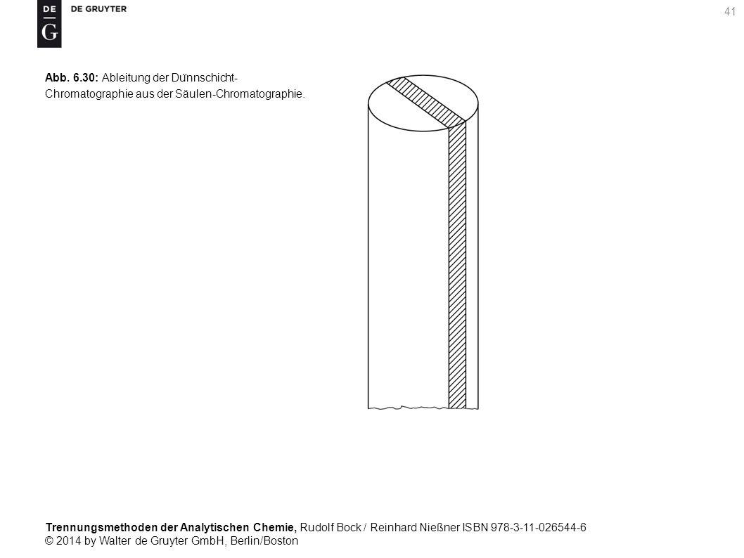 Trennungsmethoden der Analytischen Chemie, Rudolf Bock / Reinhard Nießner ISBN 978-3-11-026544-6 © 2014 by Walter de Gruyter GmbH, Berlin/Boston 41 Abb.