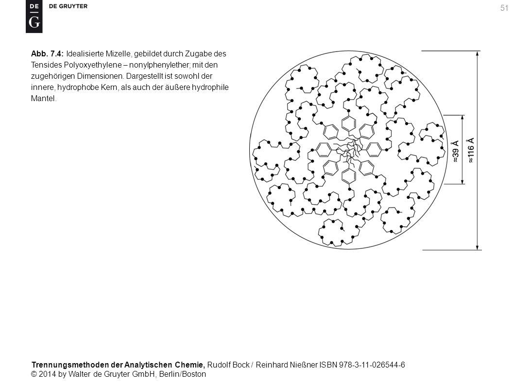 Trennungsmethoden der Analytischen Chemie, Rudolf Bock / Reinhard Nießner ISBN 978-3-11-026544-6 © 2014 by Walter de Gruyter GmbH, Berlin/Boston 51 Abb.