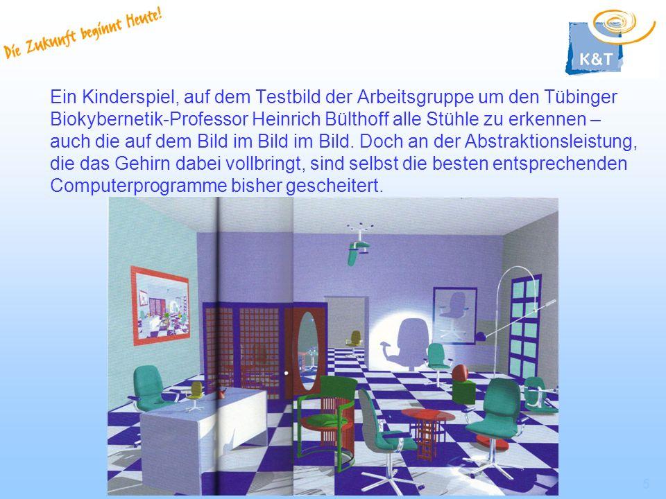 5 Ein Kinderspiel, auf dem Testbild der Arbeitsgruppe um den Tübinger Biokybernetik-Professor Heinrich Bülthoff alle Stühle zu erkennen – auch die auf