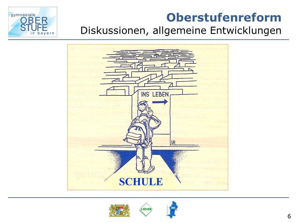 6 Oberstufenreform Diskussionen, allgemeine Entwicklungen SCHULE