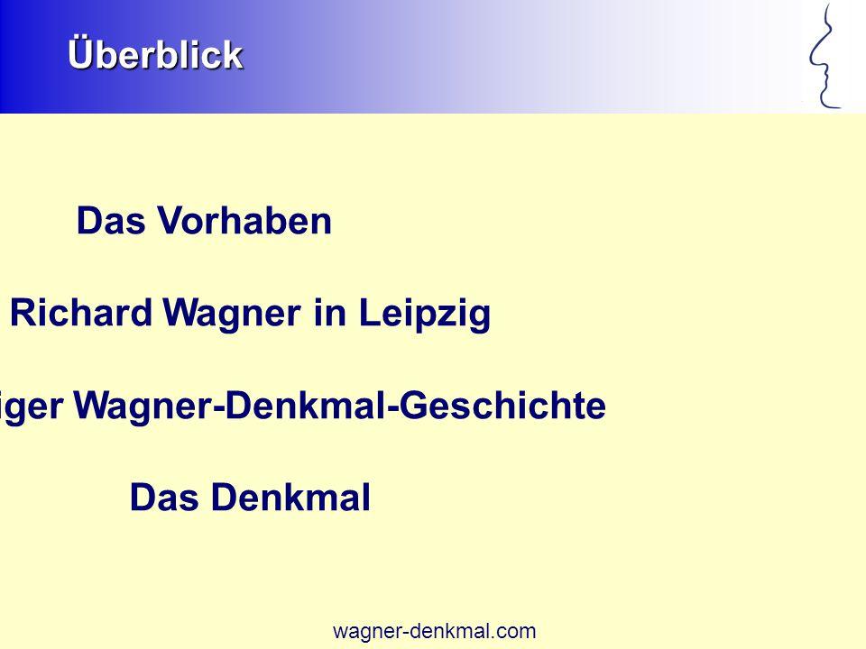 Überblick Das Vorhaben Richard Wagner in Leipzig Leipziger Wagner-Denkmal-Geschichte Das Denkmal