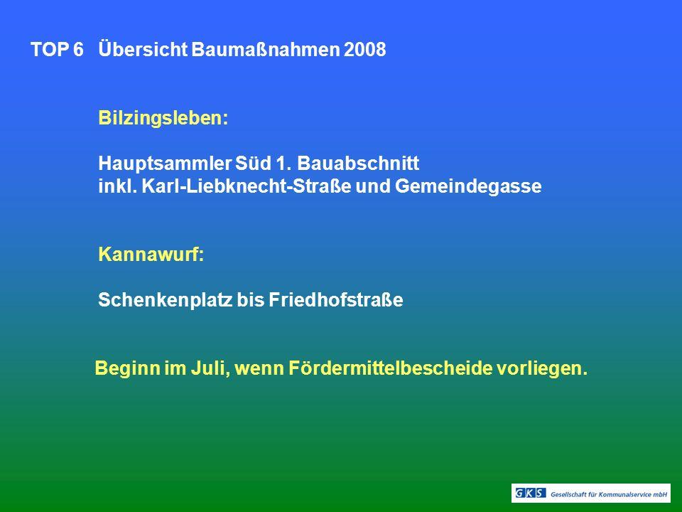 TOP 7Beratung Abwasserbeiträge 2008 Im Ergebnis einer Arbeitsberatung mit der Kommunalaufsicht wurde Einigkeit über die erstmalige Bescheidlegung von Abwasser- beiträgen des AZV Rieth unter Anrechnung der bereits gezahlten Beträge an die Mitgliedsgemeinden erzielt.