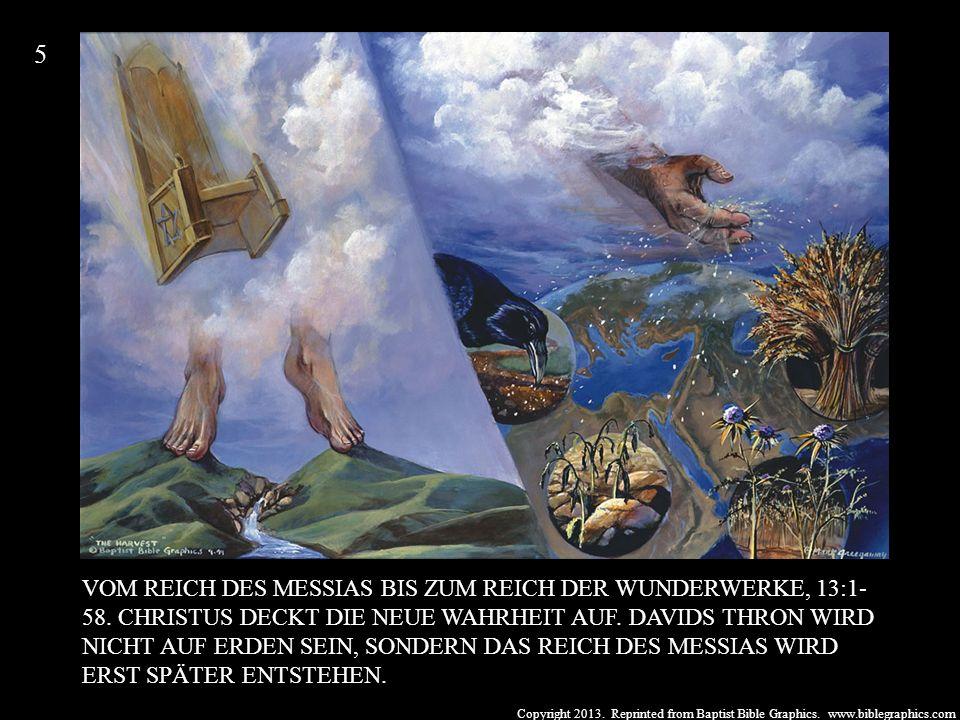 Copyright 2013. Reprinted from Baptist Bible Graphics. www.biblegraphics.com VOM REICH DES MESSIAS BIS ZUM REICH DER WUNDERWERKE, 13:1- 58. CHRISTUS D