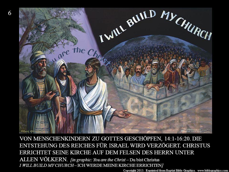Copyright 2013. Reprinted from Baptist Bible Graphics. www.biblegraphics.com VON MENSCHENKINDERN ZU GOTTES GESCHÖPFEN, 14:1-16:20. DIE ENTSTEHUNG DES