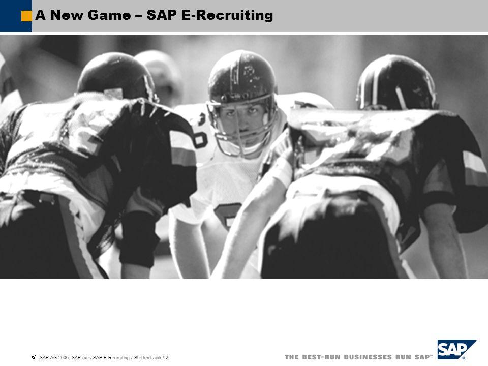 E-Recruiting in der Praxis SAP E-Recruiting Projekt & Implementation