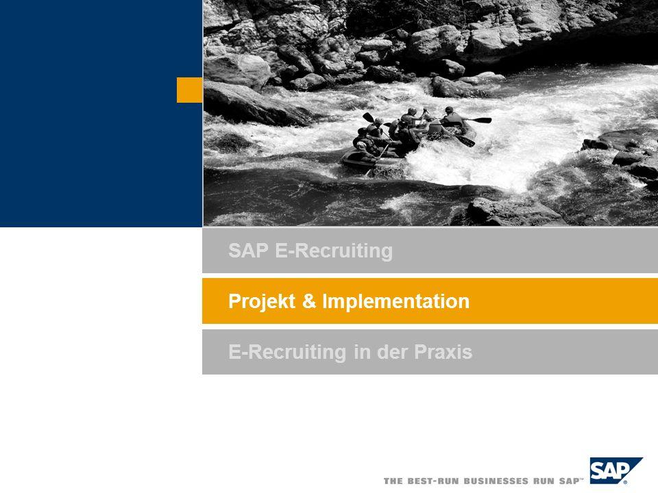 SAP AG 2006, SAP runs SAP E-Recruiting / Steffen Laick / 7 Project Plan E-Recruiting 2005 Oct.