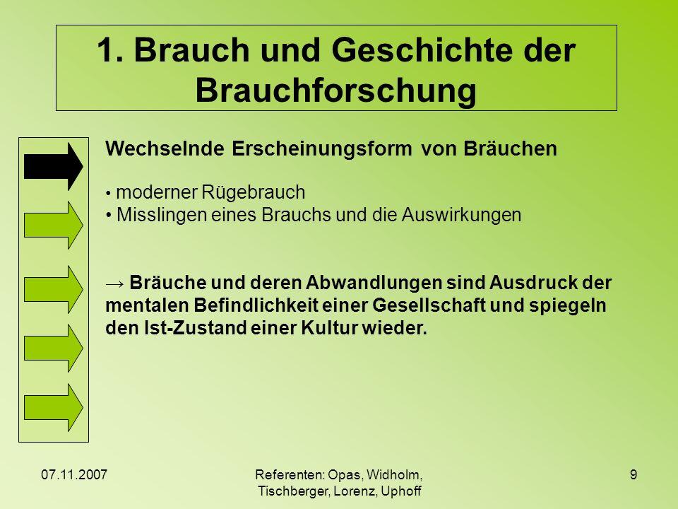 07.11.2007Referenten: Opas, Widholm, Tischberger, Lorenz, Uphoff 20 3.