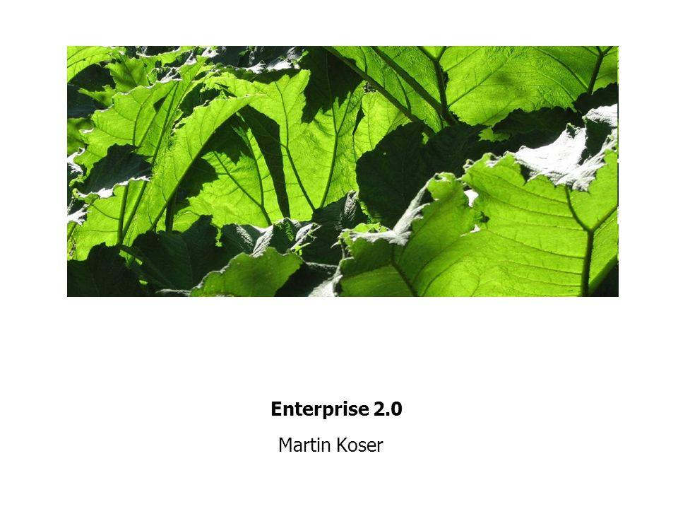 Enterprise 2.0 Martin Koser