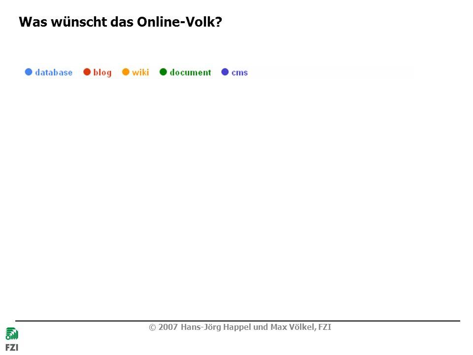 Was wünscht das Online-Volk? Why?