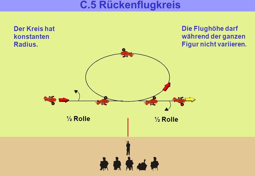 C.6: Looping Der Looping muss rund sein. Ein- und Ausflug erfolgen auf gleicher Höhe.