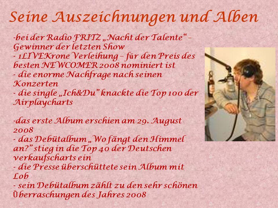 Philipp Poisel Philipp Posel ist ein junger deutscher Sänger, die Neuentdeckung von Herbert Grönemeyer. Herbert bezeichnet ihn als Jungen Stutt- Garte