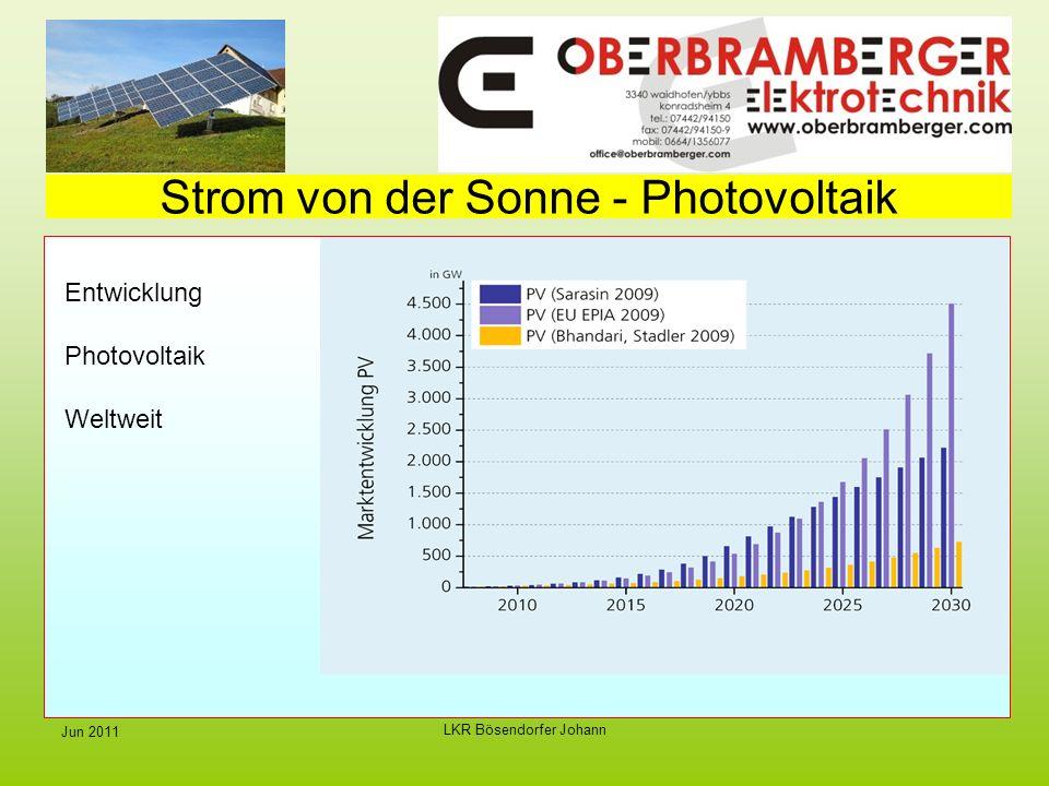 LKR Bösendorfer Johann Jun 2011 Strom von der Sonne - Photovoltaik Entwicklung Photovoltaik Weltweit