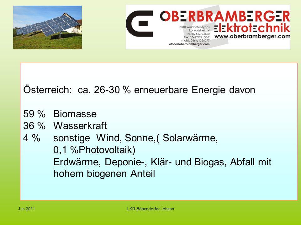 LKR Bösendorfer Johann Jun 2011 Strom von der Sonne - Photovoltaik Stromgestehungs- kosten