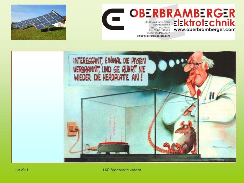 LKR Bösendorfer JohannJun 2011 Strom von der Sonne - Photovoltaik Wichtige Voraussetzungen für optimale Leistung der PV Anlage Standort - optimale Ausrichtung