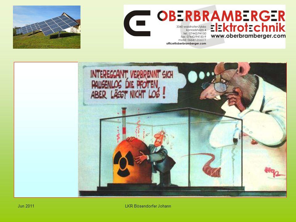 LKR Bösendorfer Johann Jun 2011 Strom von der Sonne - Photovoltaik Preise für PV- Anlagen weiter sinkend : 199012.000 / KWp 2000 6.000 / KWp 2010 3.000 / KWp (netto)