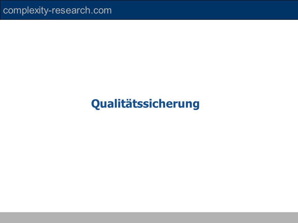 complexity-research.com Qualitätssicherung