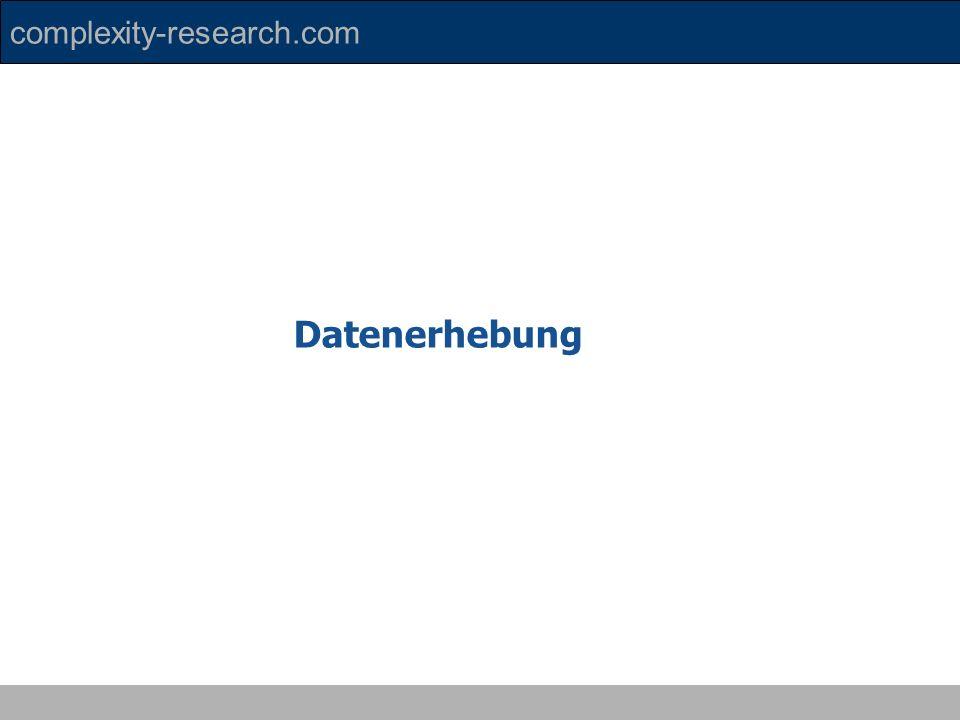 complexity-research.com Datenerhebung