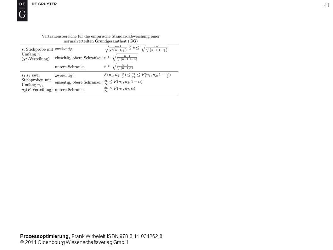 Prozessoptimierung, Frank Wirbeleit ISBN 978-3-11-034262-8 © 2014 Oldenbourg Wissenschaftsverlag GmbH 41