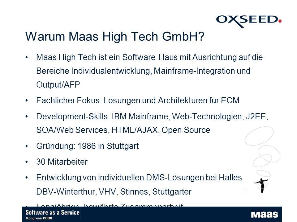 Warum Maas High Tech GmbH.