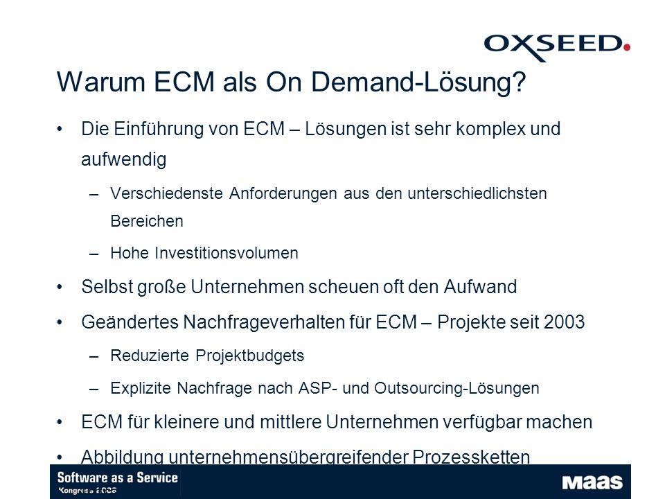 Warum ECM als On Demand-Lösung.