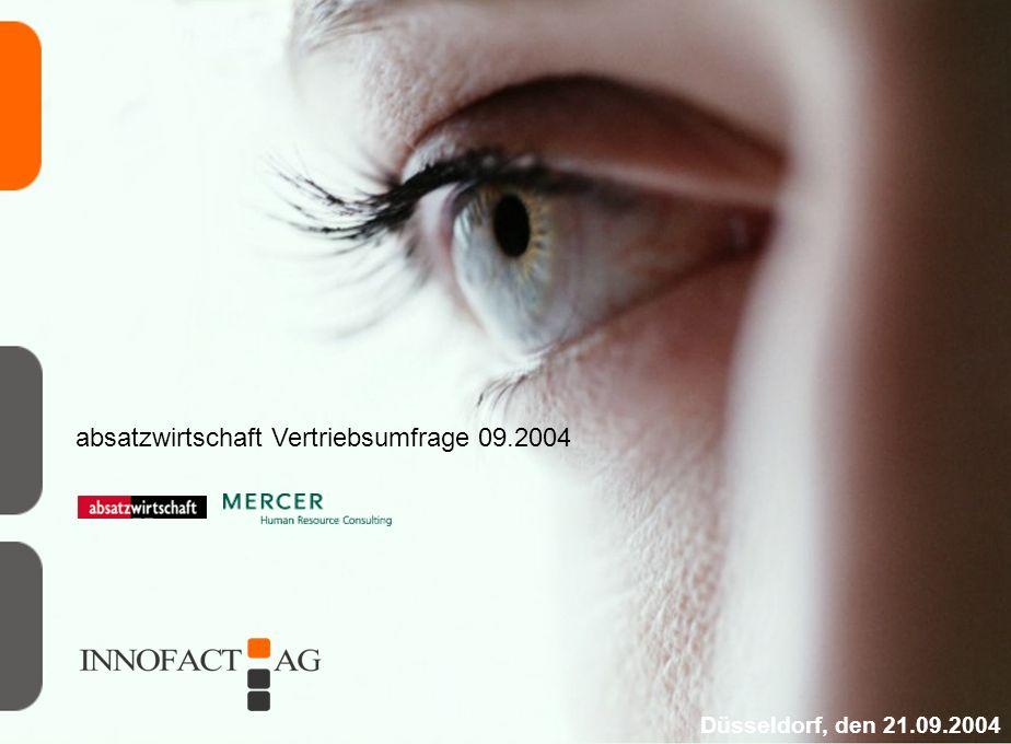 absatzwirtschaft Vertriebsumfrage 09.2004 Düsseldorf, den 21.09.2004