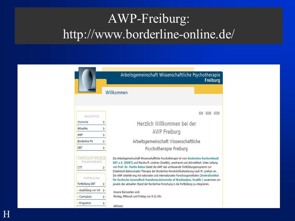 BPD - Verlaufsstudien: Zanarini et al., Am J Psychiatry, 2006; 163:827-832 H