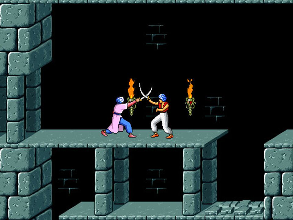 Geschichte & Gegenwart 1989 Broderbund Prince of Persia Jump & Run Auf: Amiga, Apple Mac, Apple II, Game Boy, Megadrive, MS-DOS, Sinclair Spectrum, SA