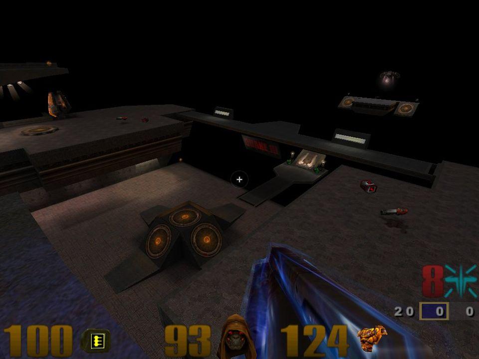 Geschichte & Gegenwart 1996 id Software Quake First-Person-Shooter revolutionär weil alles in 3D (keine Pixel / alles Polygone) erstes Spiel für 3DFX Voodoo Chipsatz großen Einfluss auf dieses Spielgenre gute Netzwerk-Eigenschaften