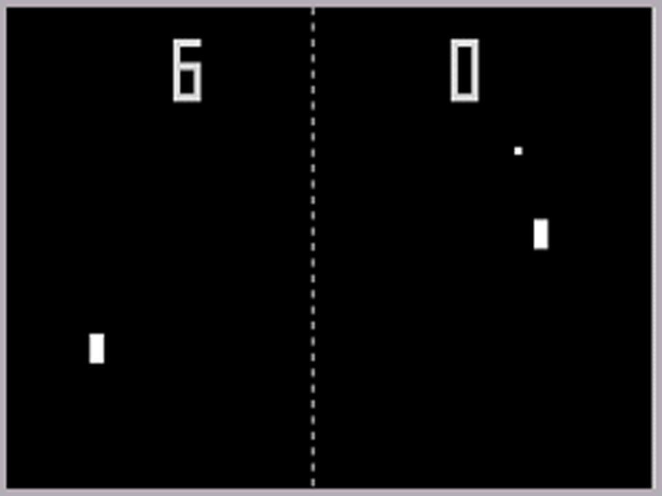 Geschichte & Gegenwart 1972 Atari Pong Nolan Bushnell gründet Atari AVOID MISSING BALL FOR HIGH SCORE ( Verfehle nicht den Ball für einen Highscore ).