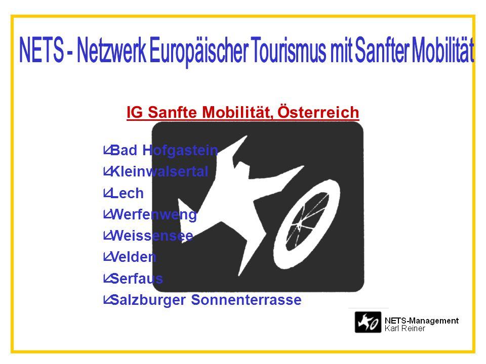 IG Sanfte Mobilität, Österreich åBad Hofgastein åKleinwalsertal åLech åWerfenweng åWeissensee åVelden åSerfaus åSalzburger Sonnenterrasse