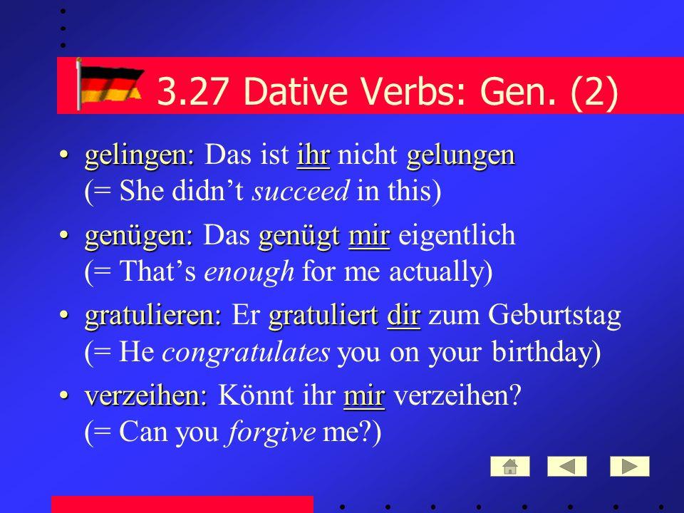 3.27 Dative Verbs: Gen.