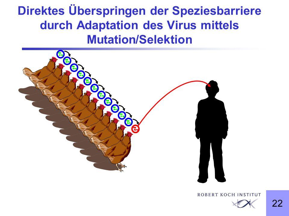 22 Direktes Überspringen der Speziesbarriere durch Adaptation des Virus mittels Mutation/Selektion