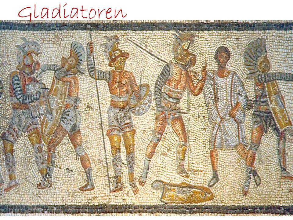8.Kampftag Eigentliche Kampftag begann früh morgens Gladiatoren und Ausrüstung wurde präsentiert Tierkämpfe mit speziell ausgebildeten Kämpfern