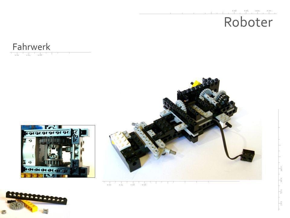 0.020.040.060.08 0.02 0.04 0.06 0.08 0.020.040.060.08 0.020.040.06 Roboter Fahrgestell - Lenkung