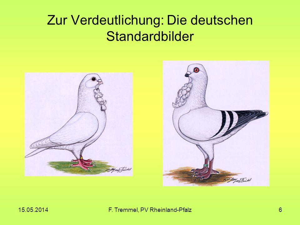 15.05.2014F. Tremmel, PV Rheinland-Pfalz6 Zur Verdeutlichung: Die deutschen Standardbilder